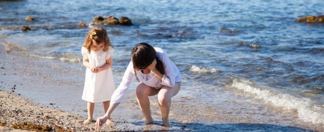 Mother and daughter Searching for Lost Treasure in Oregon